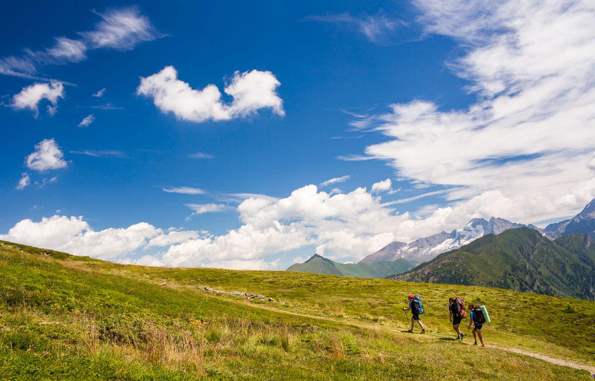 Trek po červené na Steinjoch - Monte Sasso a okolí a zpět.